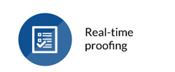 Real-time proofing