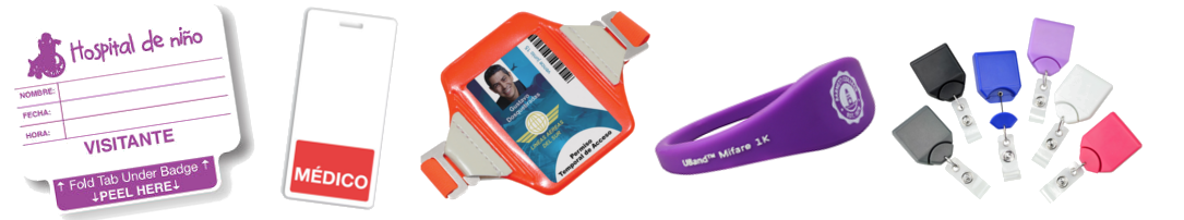 A sample of the products Brady People ID offers for Latin American customers